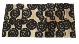 Beli Decoku Black Spirals Natural Taplak Meja Table Runner 125 Cm Online
