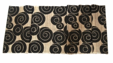 Dimana Beli Decoku Black Spirals Natural Taplak Meja Table Runner 125 Cm Decoku