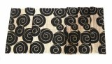 Promo Decoku Black Spirals Natural Taplak Meja Table Runner 180 Cm