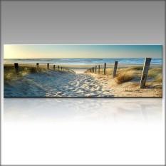 Decor Kanvas Cetak Wallpaper Art Ocean Beach Pemandangan Alam Gambar Unframe 50x150 Cm-Intl
