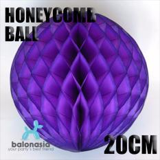 Balonasia Dekorasi 2 pcs Pesta Honey Comb Size 20cm Dark Purple