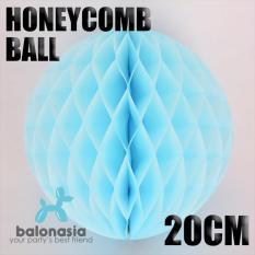 Dekorasi Pesta Honey Comb Size 20cm Light Blue