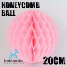 Balonasia Dekorasi Pesta 2 pcs Honey Comb Size 20cm Warna Pink