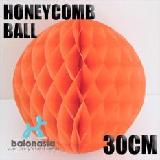 Dekorasi Pesta Honey Comb Size 30cm Orange