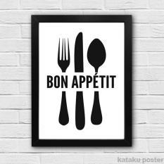 Dekorasi Ruang Makan - Cafe Resto Kitchen Decor - Bon Appetit - Poster Hiasan Dinding Dapur