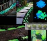 Jual Cepat Dekoratif Kerikil Taman Atau Halaman 100 Cahaya Di Biru Langit Gelap Noctilucent Kerikil Batu For Hiasan Taman Jalan