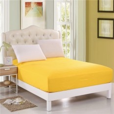 Harga Delazato Sprei Waterproof Colorful Kuning New