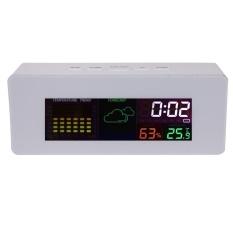 Meja Color Display Digital Prakiraan Cuaca dengan Alarm Clock-Intl