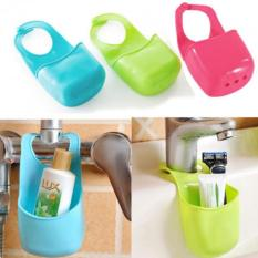 Rincian Tentang Tempat Cuci Piring Drain Bag Gantungan Keranjang Kamar Mandi Rak Penyimpanan Gadget Alat PVC-Intl