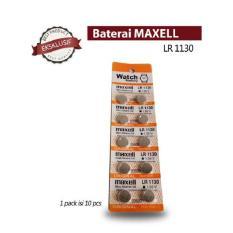 DEVmart Maxell Battery - 10pcs Baterai AG10 LR1130 389A LR54 L1131 189 Alkaline Cell Button Jam Kal