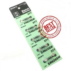 DEVmart Sony Battery - 10 Pcs Baterai Jam Tangan Sony 377 Watch Battery SR626 1.55V Kalkulator Mainan Remote