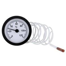 Dial Termometer Kapiler Suhu Gauge dengan 1.5 M Sensor 0-120 C untuk Mengukur Air Cair-Intl