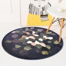 Diameter 60 Cm Bulat Tikar Karpet Kamar Tidur Ruang Tamu Sofa Non-slip Meja Teh