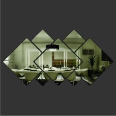 Jual Beli Diamond Shape Acrylic Mirror Silver Wall Sticker Mural Window Glass Tile Hong Kong Sar Tiongkok