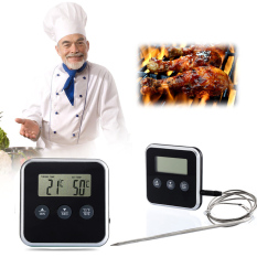Digital Cooking Probe Food Timer Kitchen Oven Grills Meat Thermometer Timers