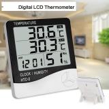 Beli Digital Lcd Rumah Tangga Alarm Clock Thermometer Hygrometer Suhu Elektronik Kelembaban Meter Indoor Outdoor Termometer Internasional Baru