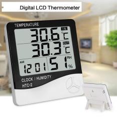 Digital Lcd Rumah Tangga Alarm Clock Thermometer Hygrometer Suhu Elektronik Kelembaban Meter Indoor Outdoor Termometer Internasional Diskon Akhir Tahun