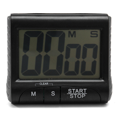Review Tentang Digital Lcd Dapur Memasak Timer Watch Countdown Dengan Loud Alarm Clock Klip Hitam Intl