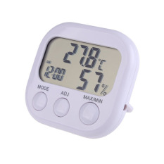 Digital LCD Termometer Higrometer Jam Suhu Kelembaban Alat Ukur-Internasional