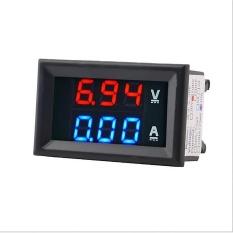 Jual Amp Amplifier Volt Meter Voltmeter Digital Pengukur Amper Dc 100 V 10A Dengan Dual Led Merah Biru New Internasional Tiongkok