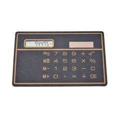 Digit Ultra Tipis Slim Pompa Tenaga Surya Mini Kalkulator Saku-Intl