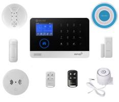 DIGOO DG-HOSA 433 MHz Wireless GSM dan WIFI DIY Aksesoris Smart Home Security Alarm Sistem Kit Putih-Intl