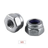 Promo Toko Din985 Nylon Lock Nut Mencegah Melonggarkan Metrik 304 Stainless Steel M3 100 Pcs Intl