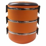 Jual Dinemate Eco Lunch Box Stainless Steel Rantang 3 Susun Orange Baru