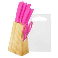 Review Dinemate Pisau Dapur Set 8 Pcs Pink Dinemate