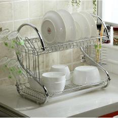 Dinemate Rak Piring 2 Susun Stainless Minimalis - Dish Drainer