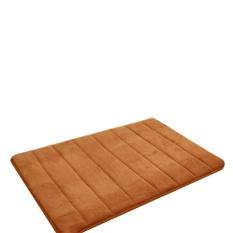 Diotem Simple Design Memory Foam Bath Mat Lembut Hangat dan Kuat Anti-slip Mat Di Kamar Tidur Kamar Mandi Stripes 40*60 Cm-Khaki-Intl