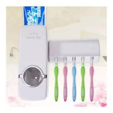 Dispenser Odol dan Tempat Sikat Gigi Touch Me - Putih - Babamu