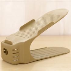 Display Rack Sepatu Organizer Penyimpanan Ruang Rak Penyimpanan Plastik Beige-Intl