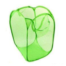 diva-Davi Keranjang Laundry bag lipat - hijau / keranjang baju kotor lipat / hamper baju / laundry basket