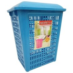 diva-Davi Keranjang Rak Baju Kotor / laundry basket Modena - biru / keranjang baju kotor lipat / hamper baju / laundry basket