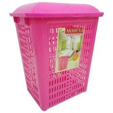 diva-Davi Keranjang Rak Baju Kotor / laundry basket Modena - pink / keranjang baju kotor lipat / hamper baju / laundry basket