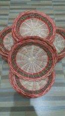 diva-Davi Piring Rotan anyaman motif - isi 5 pcs - diameter 24cm