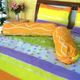 Dimana Beli Dixon Set Sprei Dewasa 100 Katun 180X200 Abstract Orange Multicolor Dixon