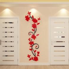 DIY 3D acrylic Modern Flower Decal Art Mural Wall Sticker Home Decoration