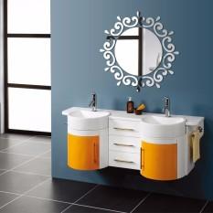 DIY 3D Rumah Dekorasi Dinding Modern Stiker Cermin Trendy Jam Dinding