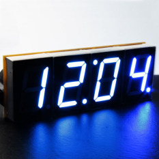 Spesifikasi Diy 4 Digit Led Elektronik Jam Kit Layar Besar Led Kit Case Biru Murah Berkualitas