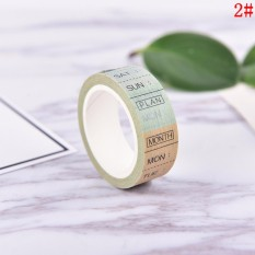 DIY 8M Timeline Washi Paper Tape Adhesive Sticky Decorative Scrapbooking Sticker N2 - intl