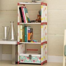Diy Free Combination Shelf Nonwoven Lantai Ruang Tamu Dapur Kamar Mandi Rak Penyimpanan Rak Buku Sederhana Rak Buku Kreatif Multilayer Rak-Internasional By Liuyin Company.