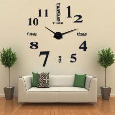 Beli Diy Gaint Wall Clock 80 130Cm Diameter Jam Dinding Online Murah
