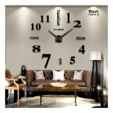 Jual Diy Giant Wall Clock 80 130Cm Diameter Elet00659 Jam Dinding Black Giant