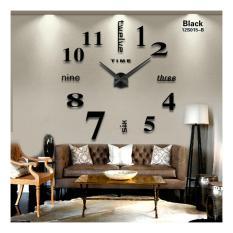 Harga Diy Giant Wall Clock 80 130Cm Diameter Elet00659 Jam Dinding Black Paling Murah