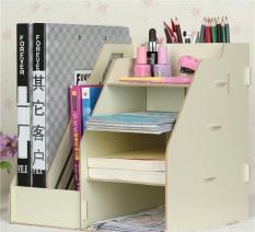 Review Tentang Diy Stationery Rack Rak Buku Kayu Rak Buku Portable Putih
