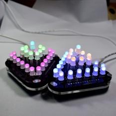 Beli Diy Touch Control Penuh Warna 5Mm Led Triangular Pyramid Elektronik Kit Intl Cicilan