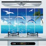 Jual Beli Ikan Lumba Lumba Dapur Anti Minyak Pvc Wall Stiker Baru Tiongkok