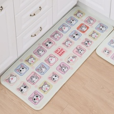 Keset Pintu Mat Karpet Kartun Cetak Permadani Mandi Tikar Lantai Dapur R Kucing